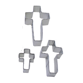 Cross Cookie Cutters, Set Of 3