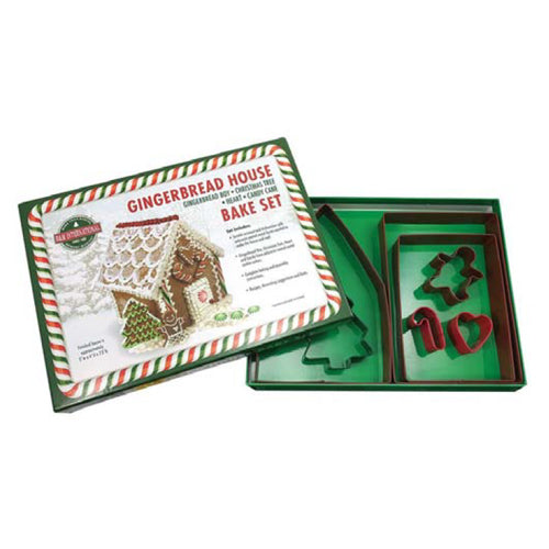 Gingerbread House Bake/Cookie Cutter Set, 7 Piece