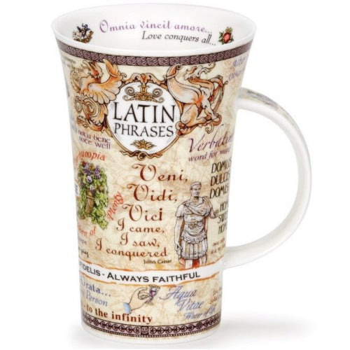 Dunoon Glencoe Fine Bone China Mug, Latin Phrases
