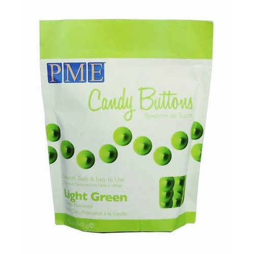 PME Candy Buttons, Light Green Vanilla Flavoured