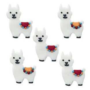 Sugarcraft Llama Cake Decorations, 5 Piece