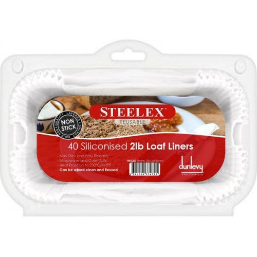 Steelex Loaf Tin Liners, Pack Of 40, 2lb