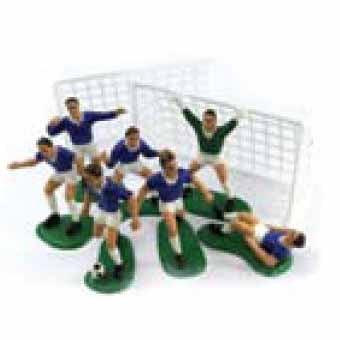 Football Cake Decorations, Set Of 9, Blue