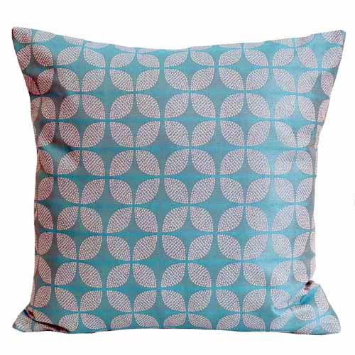 Blue Poly Filled Cushion, 45cm