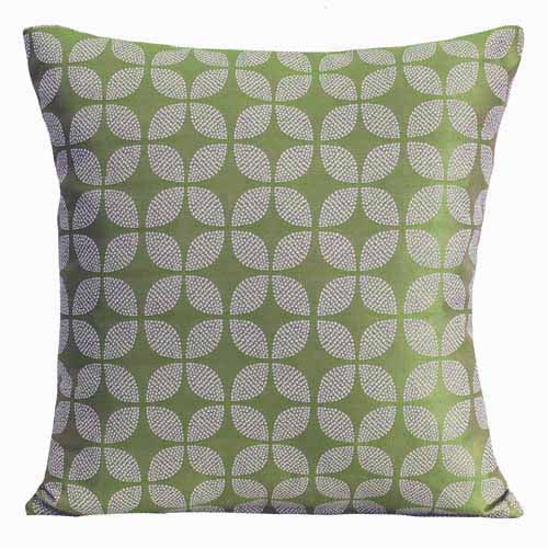 Green Poly Filled Cushion, 45cm