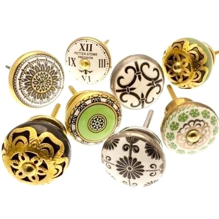 Drawer Knobs, Set Of 8, 38-45mm (127a)