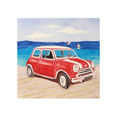 "Benaya Art Tiles 'Beach Mini', 8"" x 8"""
