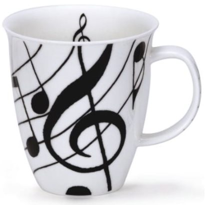 Dunoon Fine Bone China Mug 'Ebony Music'