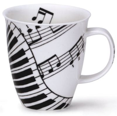 Dunoon Fine Bone China Mug 'Ivory Music'
