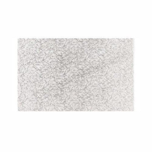 "Oblong Cake Card, Thin, 13"" x 9"", Silver"