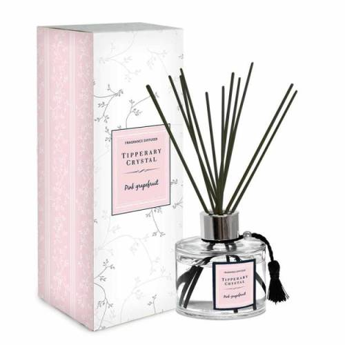 Tipperary Crystal Diffuser Set, Pink Grapefruit