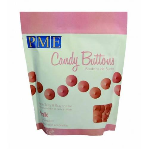 PME Candy Buttons, Pink Vanilla Flavoured