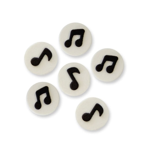 PME Handcrafted Edible Sugar Decorations, Pack Of 6, Music Notes