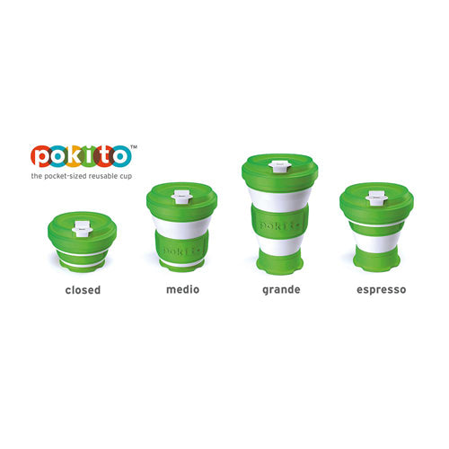 Pokito Pop Up Expandable Cup, Lime