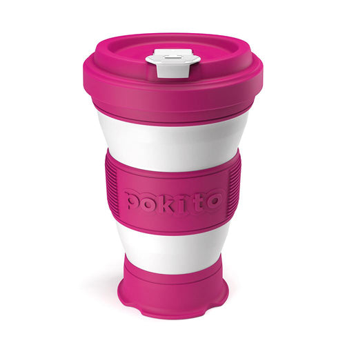 Pokito Pop Up Expandable Cup, Raspberry