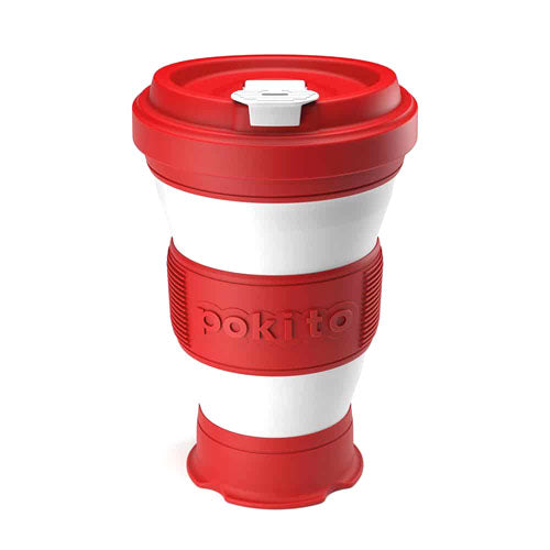 Pokito Pop Up Expandable Cup, Cherry