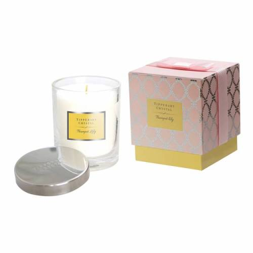 Tipperary Crystal Luxury Candle, Trumpet Lily