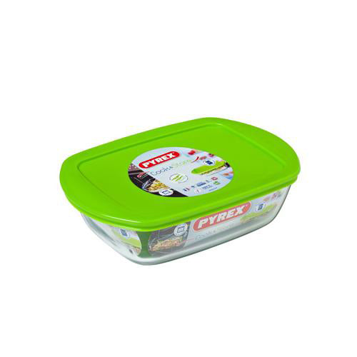 Pyrex Cook & Store Rectangular Dish With Lid, 1.1l