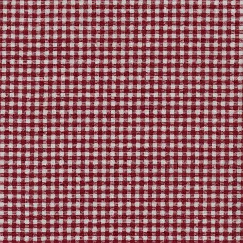 A.U Maison Pepita Checked Oilcloth, Red, FREE SWATCH
