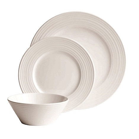 Belleek Living Ripple Porcelain 12 Piece Starter Dinner Set