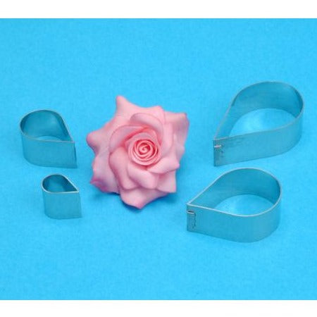 PME Rose Petal Cutters, Set Of 4