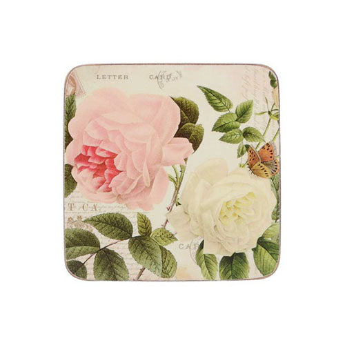 Rose Garden Premium Coasters, Set Of 6