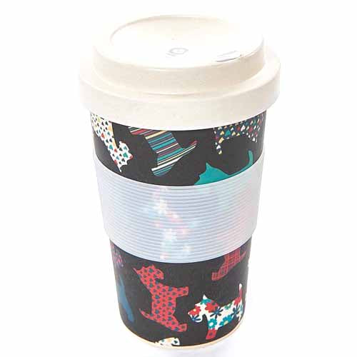ECO CHIC BAMBOO REUSABLE COFFEE CUP, SCOTTIES