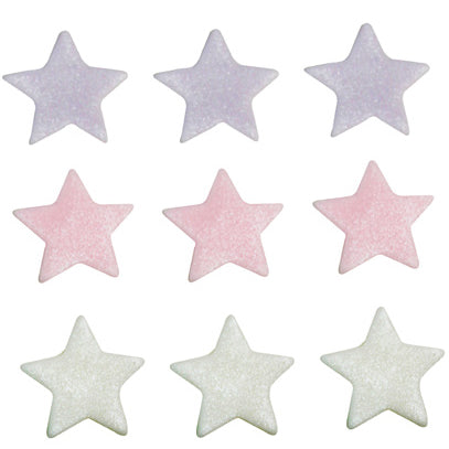 Stars Sugarcraft Cake Toppers, Lilac, Pink & White