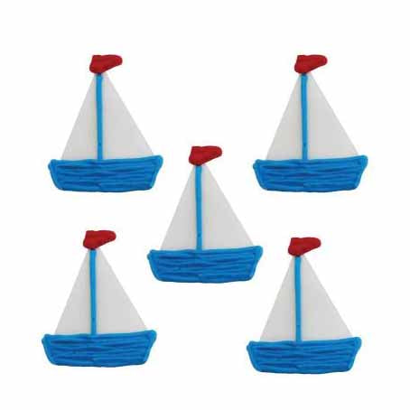 Boat Sugarcraft Cake Toppers, Pack Of 5