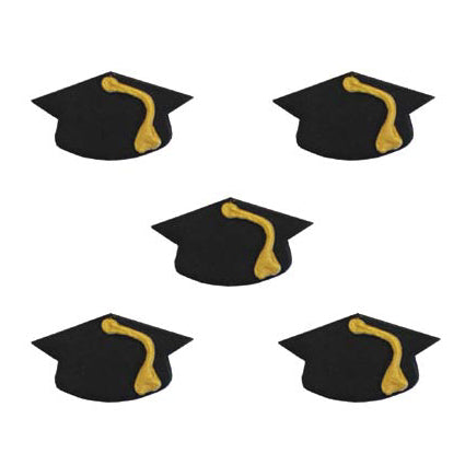 Mortarboard TOPPERS/Graduation Sugarcraft Cake Toppers, Pack Of 5