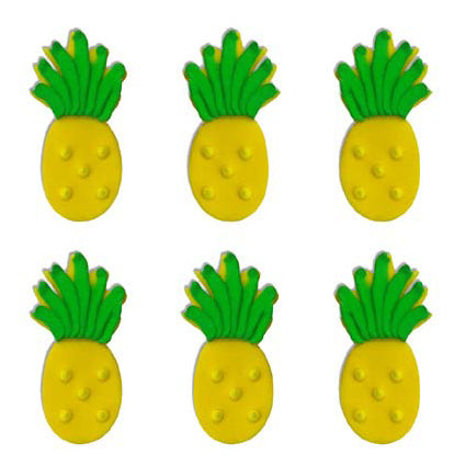 Sugarcraft Tropical Pineapple Cake Topper, 6 Piece