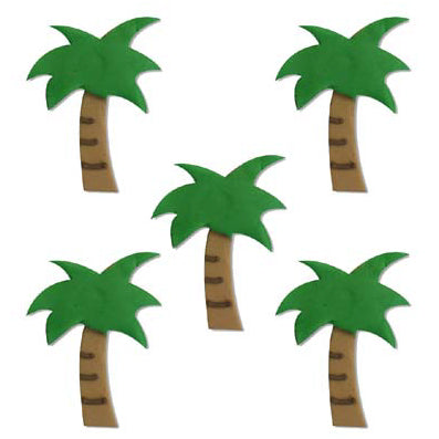 Sugarcraft Tropical Palm Tree Cake Topper, 5 Piece