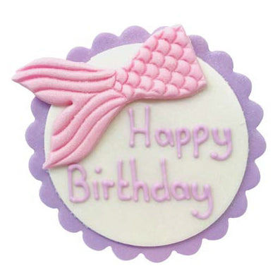 Copy of Sugarcraft Happy Birthday Mermaid Tail Cake Topper, 1 Piece