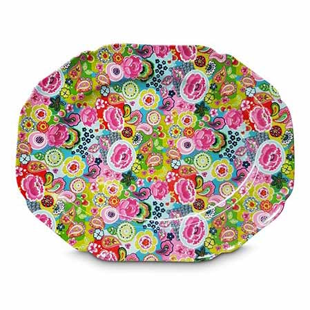 Shannonbridge Pottery Burst Of Colours Serving Platter