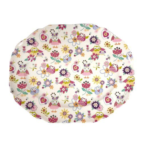 Shannonbridge Pottery Happy Hoots Serving Platter