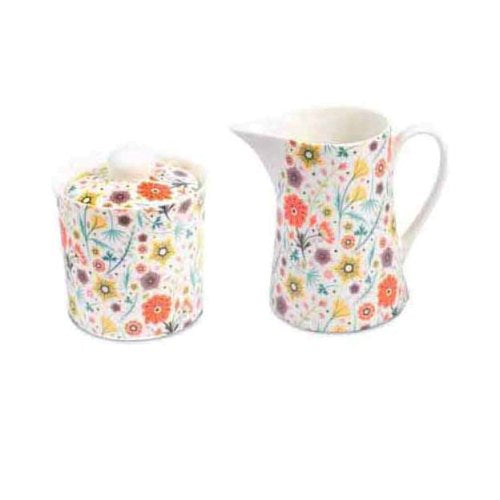 Shannonbridge Pottery Shrubberies Sugar & Creamer