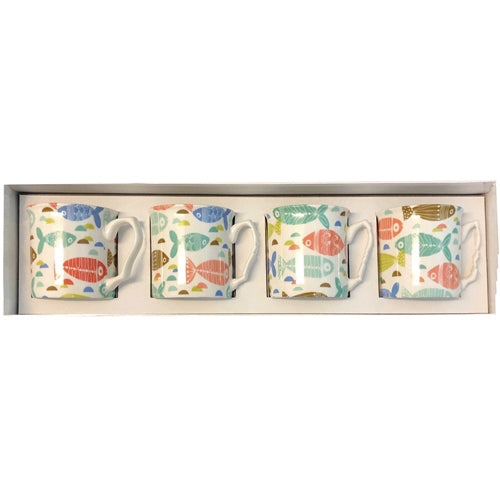 Shannonbridge Pottery Ahoy 4 Piece Mug Gift Set