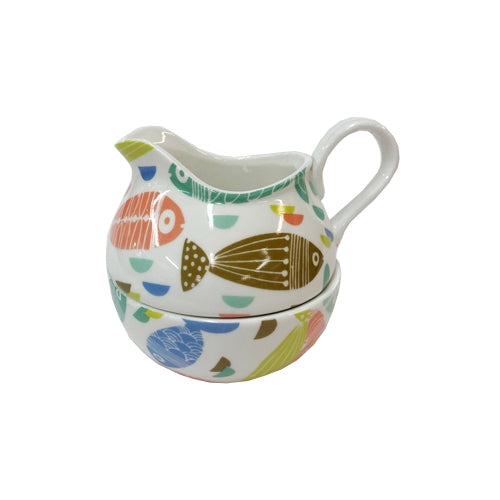 Shannonbridge Pottery Ahoy Stacker Sugar & Cream Set