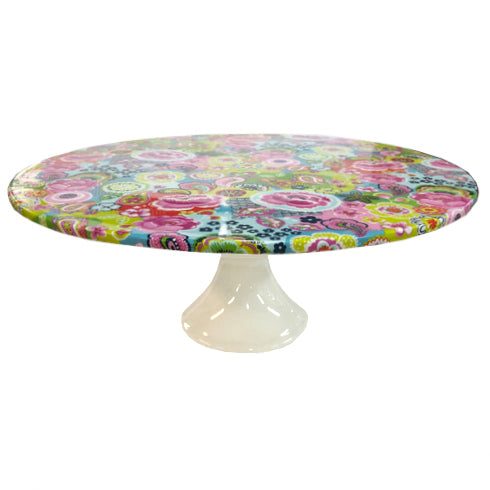 Shannonbridge Pottery Burst Of Colours Footed Cake Stand