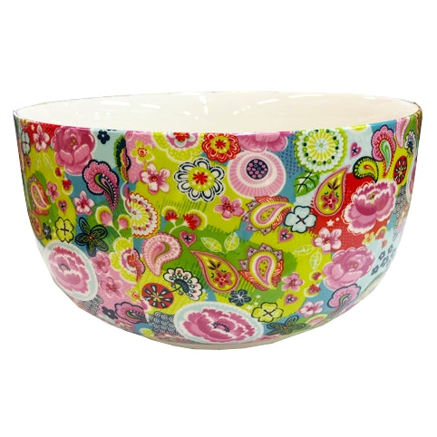 Shannonbridge Pottery Burst Of Colours Salad Bowl