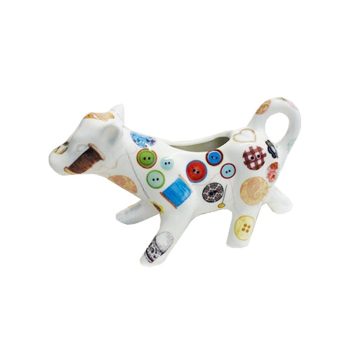 Shannonbridge Pottery Sewing Cow Shaped Jug