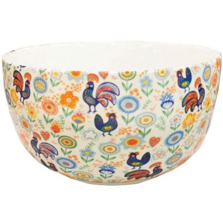 Shannonbridge Pottery Cock-a-doodle-doo Fruit/Salad Bowl