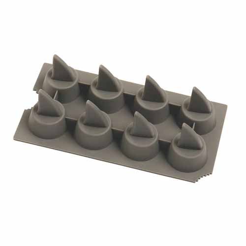 SILICONE SHARK FIN ICE TRAY, 8 CUP