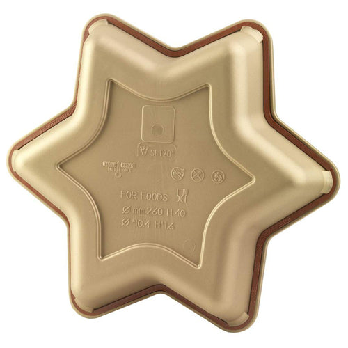 Silikomart Star Shaped Silicone Cake Pan, 25cm