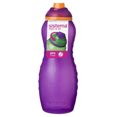 Sistema Twist 'N' Sip Davina Bottle, 700ml, Purple