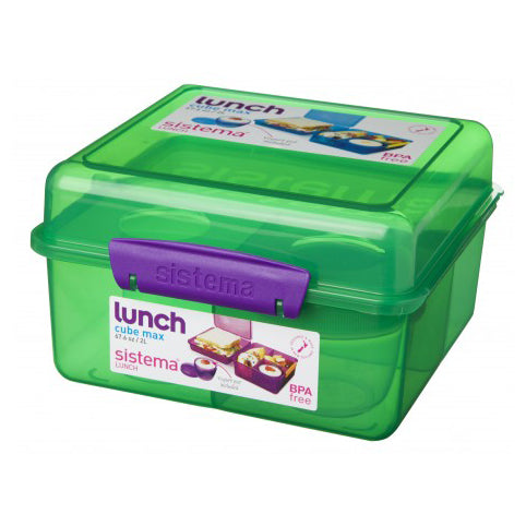 Sistema Lunch Cube Max, 2L, Green