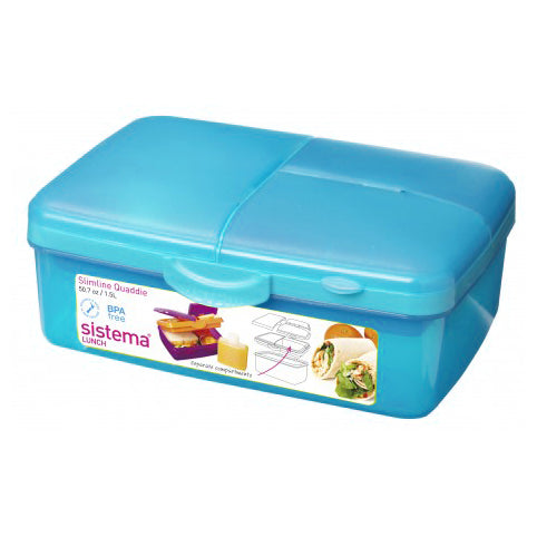 Sistema Slimline Quaddie With Bottle, 1.5l, Aqua