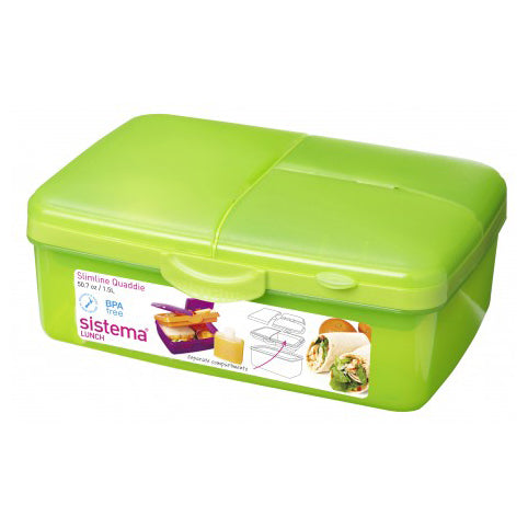 Sistema Slimline Quaddie With Bottle, 1.5l, Lime