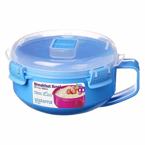 Sistema Breakfast Bowl, 850ml, Blue