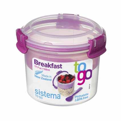 Sistema Breakfast To Go, 530ml, Purple